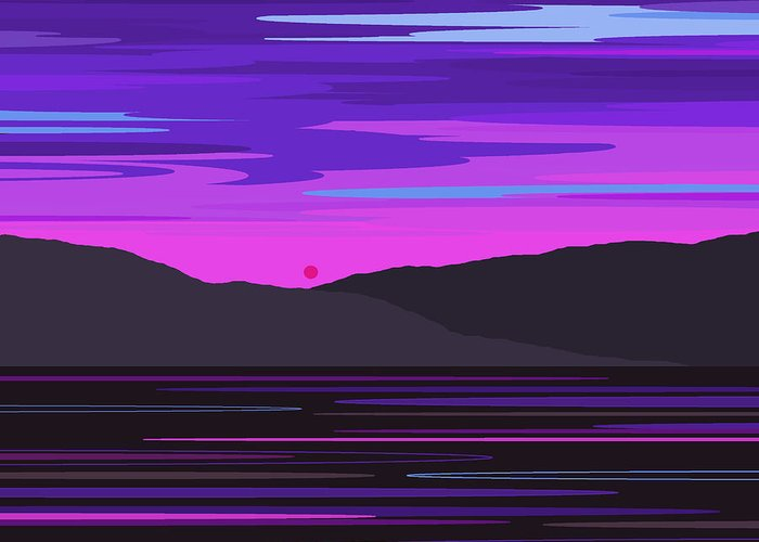 Neon Sunset Reflections Digital Art By Val Arie
