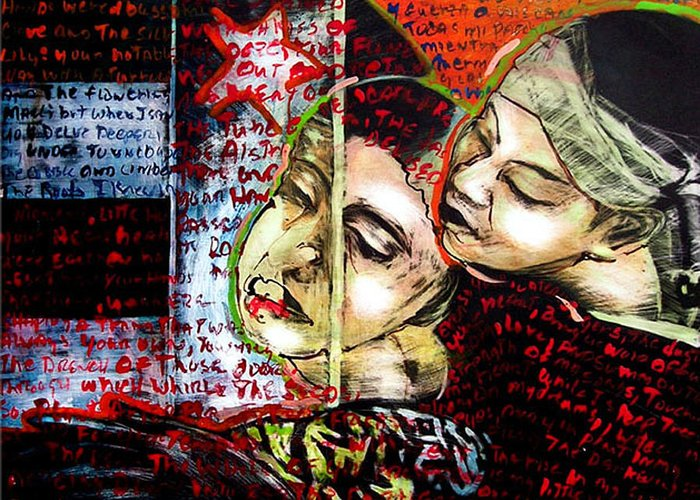 Greeting Card featuring the mixed media Neruda Love Poem by Chester Elmore