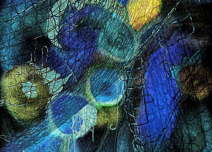 Photopainting Greeting Card featuring the digital art Network 4 by Helga Schmitt