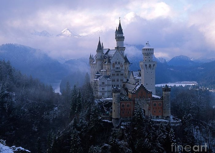 Castle Photographs Greeting Card featuring the photograph Neuschwanstein by Don Ellis
