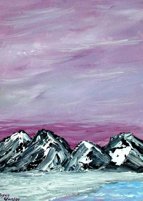 Landscape Greeting Card featuring the painting Nevada Sky by Margie Byrne