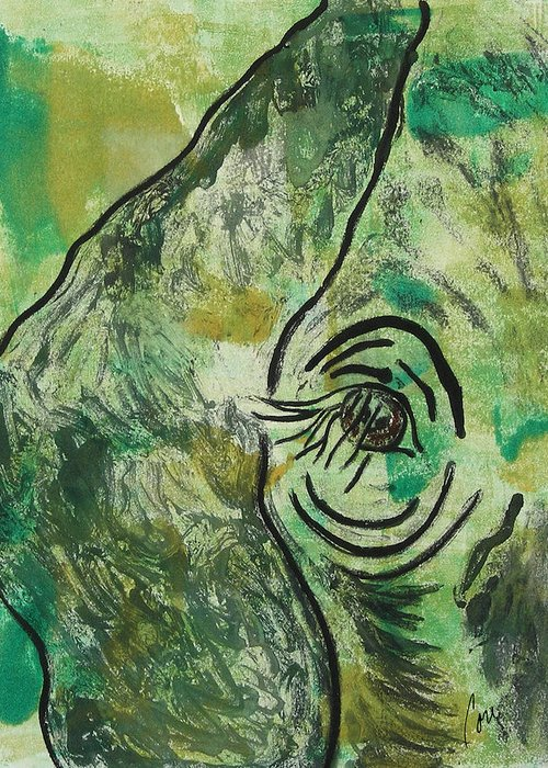 Monotype Greeting Card featuring the mixed media Never Forgotten by Cori Solomon