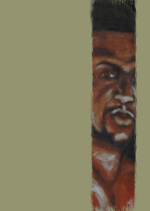 Figure Greeting Card featuring the mixed media New Comer by Joseph Ferguson