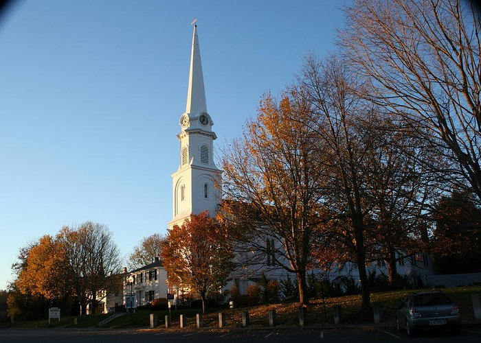 Landscape Greeting Card featuring the photograph New England by Doug Mills