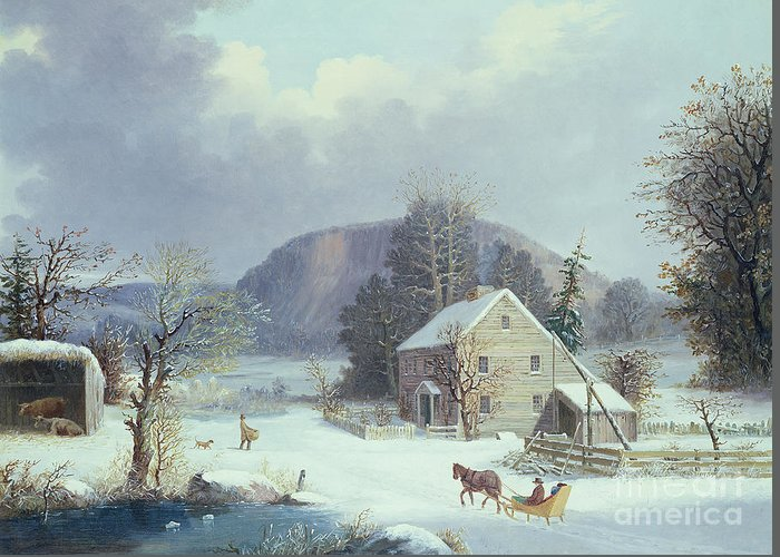 Clapboard House Paintings Greeting Cards