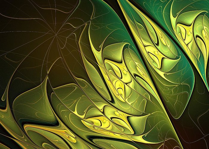 Digital Art Greeting Card featuring the digital art New Leaves by Amanda Moore