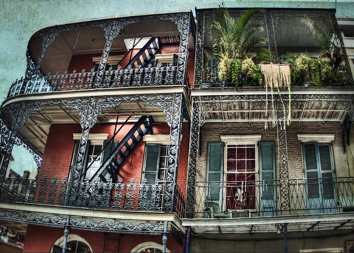Balcony Greeting Card featuring the photograph New Orleans Balconies No. 4 by Tammy Wetzel