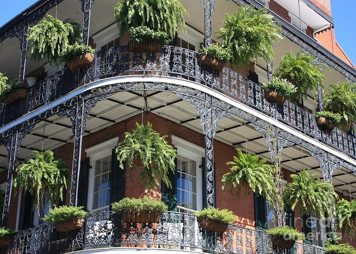 New Orleans Greeting Card featuring the photograph New Orleans Balcony by Carol Groenen
