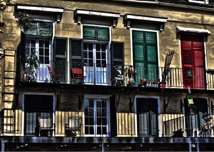 Balcony Greeting Card featuring the photograph New Orleans Balcony by Cecil Fuselier