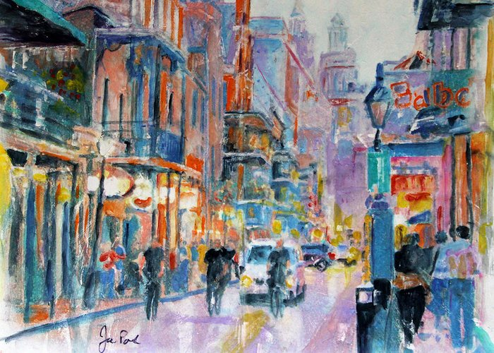Vacation Greeting Card featuring the painting New Orleans by Joe Pas