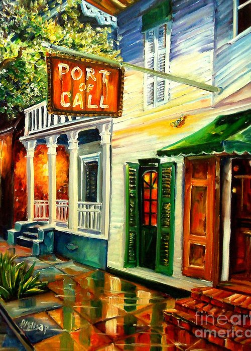 New Orleans Greeting Card featuring the painting New Orleans Port Of Call by Diane Millsap