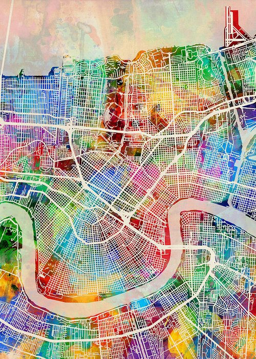 Designs Similar to New Orleans Street Map