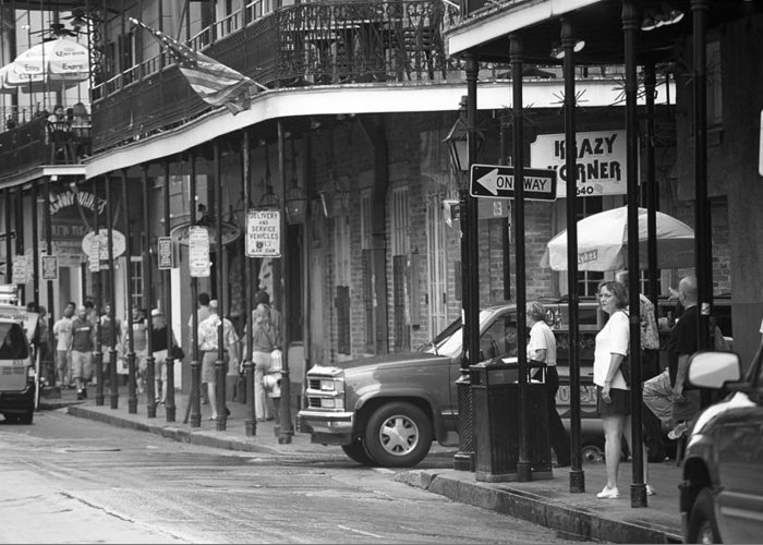 America Greeting Card featuring the photograph New Orleans Street Photography 2 by Frank Romeo
