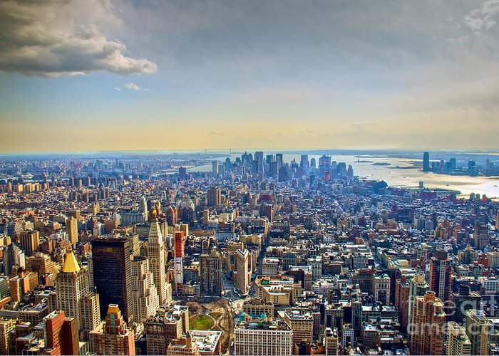 Nyc Greeting Card featuring the photograph New York City - Manhattan by Mark Dodd