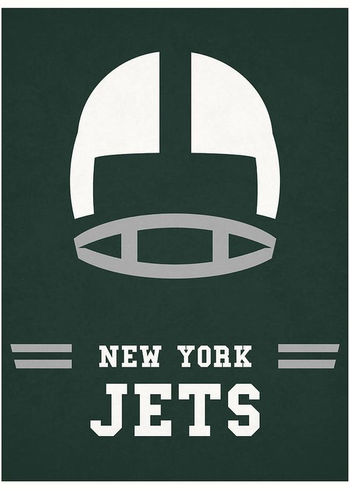 "New York Jets Vintage Football Poster 24/"" x 36/"" Matte Paper Print"