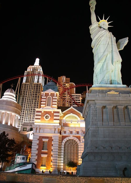 Vegas Greeting Card featuring the photograph New York New York by Rich Tanguay
