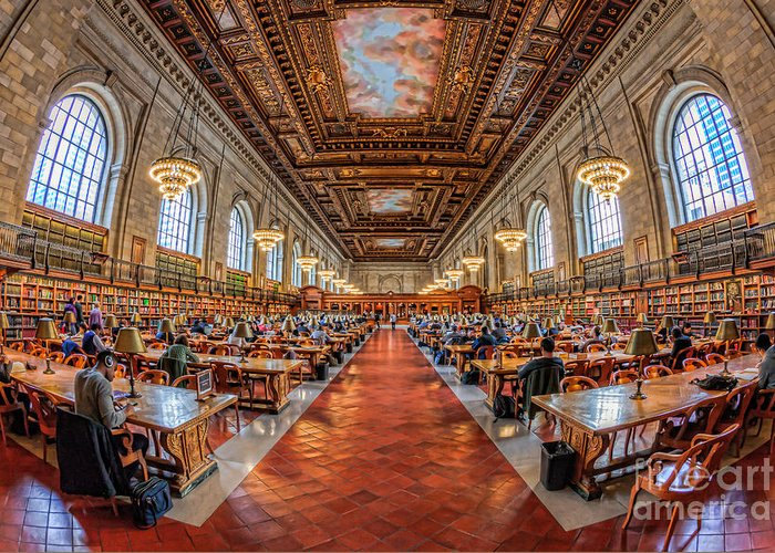 Rose Main Reading Room Greeting Cards