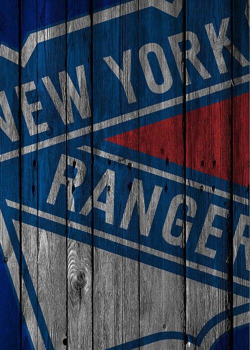New York Rangers Paintings Greeting Cards