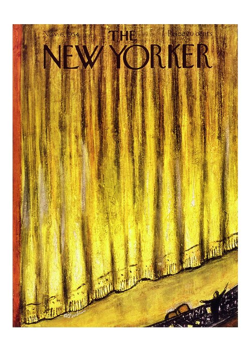 Stage Greeting Card featuring the painting New Yorker November 6 1954 by Abe Birnbaum