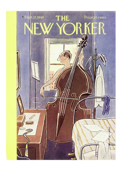 Music Greeting Card featuring the painting New Yorker September 17th, 1949 by Rea Irvin