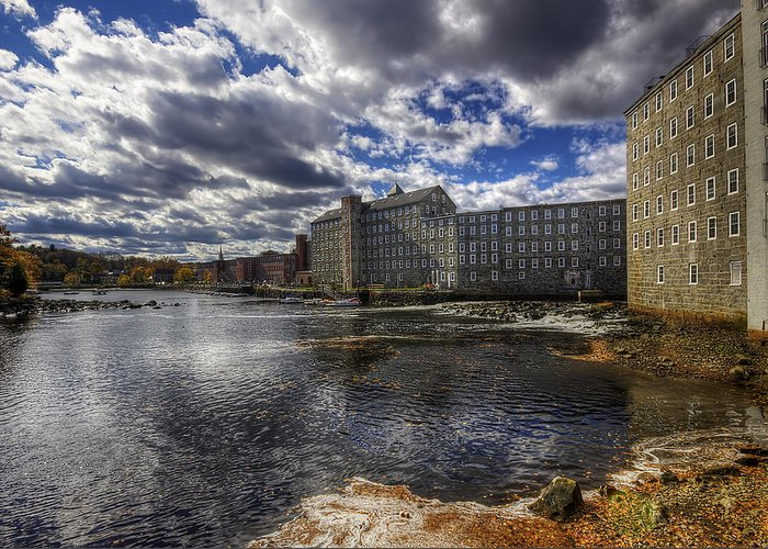 Newmarket Greeting Card featuring the photograph Newmarket Nh by Eric Gendron