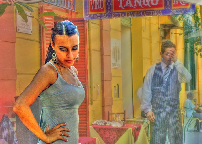 Tango Greeting Card featuring the photograph Next Steps by Francisco Colon