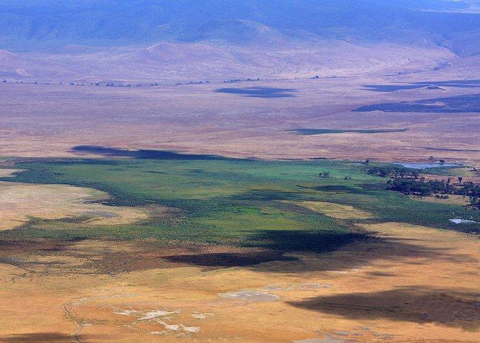 Ngorongoro Crater Greeting Card featuring the photograph Ngorongoro Crater Tanzania by Aidan Moran
