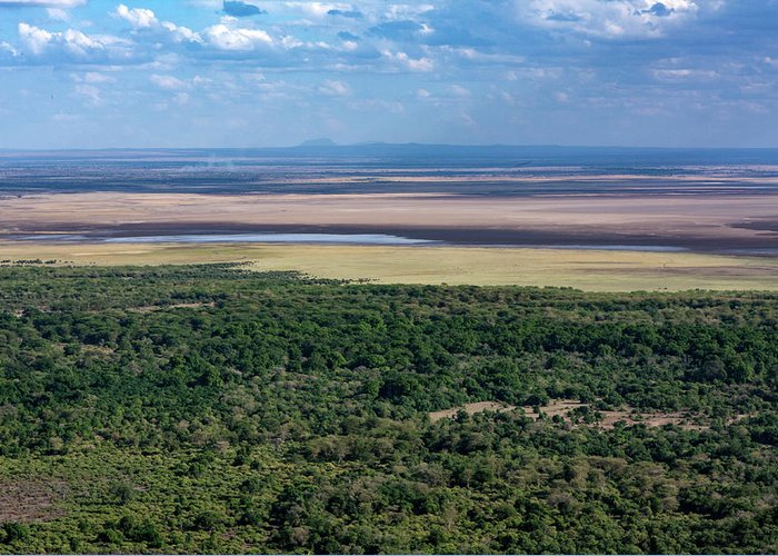 Ngorongoro Crater Greeting Card featuring the photograph Ngorongoro Crater, Tanzania, East Africa by Aidan Moran