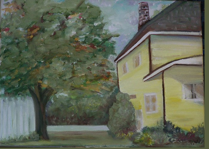 Oil Painting Greeting Card featuring the painting Nh Home by Pamela Wilson