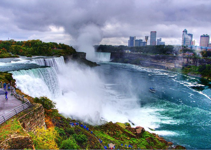 Water Greeting Card featuring the photograph Niagra by Ches Black