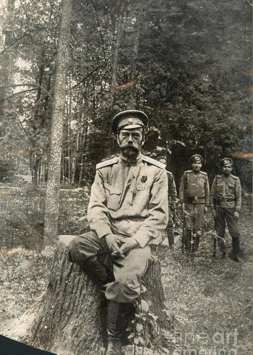 1917 Greeting Card featuring the photograph Nicholas II (1868-1918) by Granger