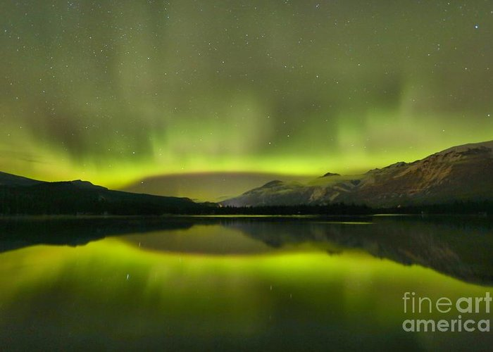 Canadian Northern Lights Greeting Card featuring the photograph Night Sky Delight by Adam Jewell