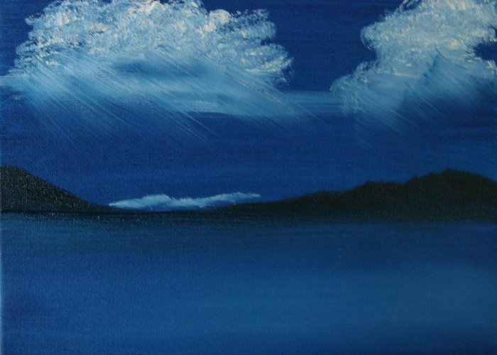 Landscape Greeting Card featuring the painting Night Sky by Dottie Briggs