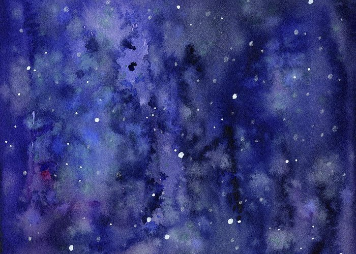 Constellation Mixed Media Greeting Cards