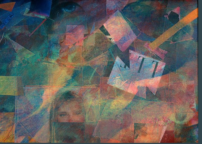 Abstract Art For Sale Greeting Card featuring the painting Night Vision by Jerry Hanks