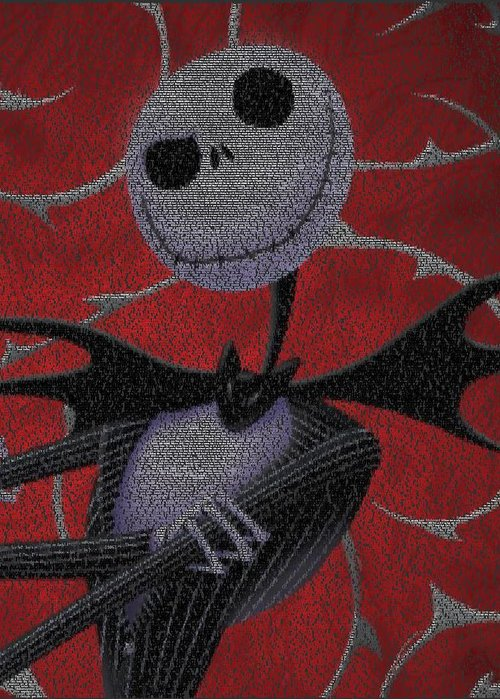 Nightmare Before Christmas Script Mosaic Greeting Card for Sale by ...