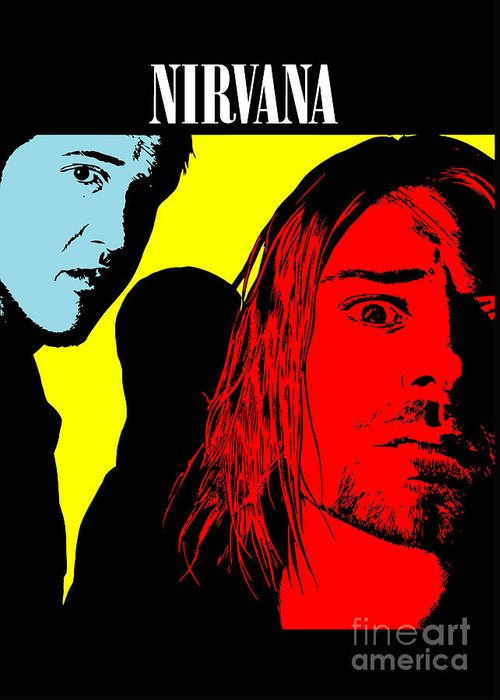 Nirvana Greeting Card featuring the digital art Nirvana No.01 by Caio Caldas