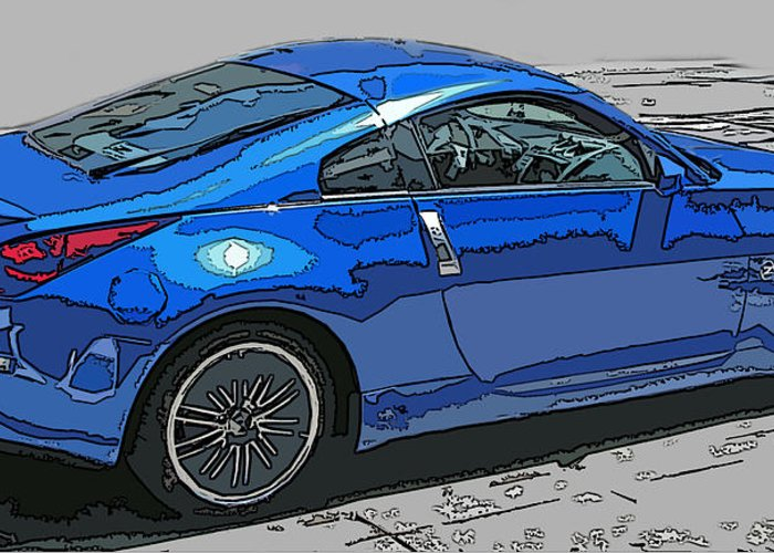 Nissan Greeting Card featuring the photograph Nissan Z Car by Samuel Sheats