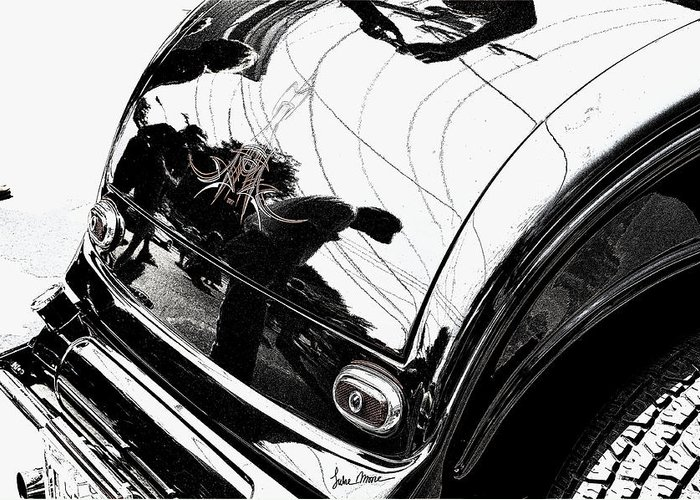Hot Rod Greeting Card featuring the photograph No. 1 by Luke Moore
