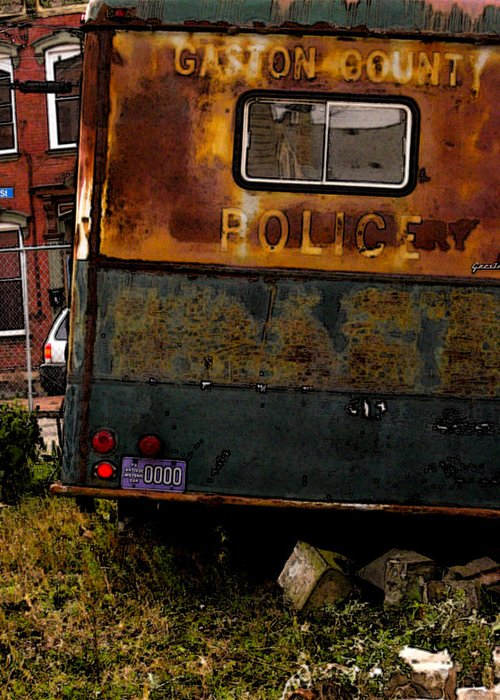 Paddy Wagon Greeting Card featuring the photograph No Need For The Black Maria by Jay Ressler