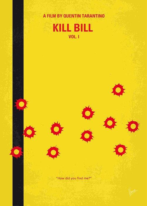 Kill Bill Greeting Card featuring the digital art No048 My Kill Bill -part 1 Minimal Movie Poster by Chungkong Art