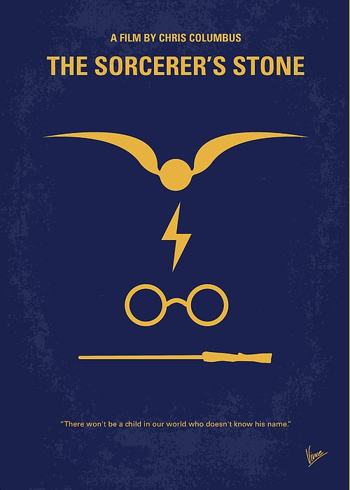 Harry Greeting Card featuring the digital art No101 My Harry Potter Minimal Movie Poster by Chungkong Art