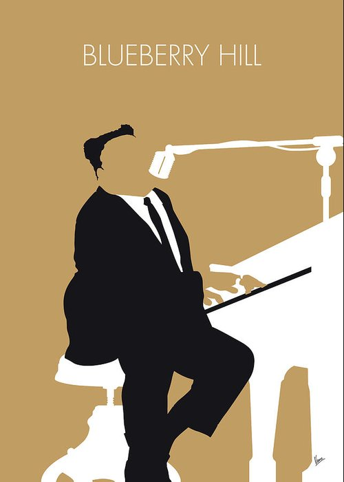 Fats Greeting Card featuring the digital art No190 My Fats Domino Minimal Music Poster by Chungkong Art