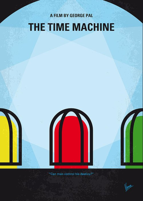 The Greeting Card featuring the digital art No489 My The Time Machine Minimal Movie Poster by Chungkong Art