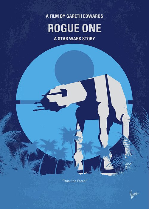 Rogue Greeting Card featuring the digital art No819 My Rogue One Minimal Movie Poster by Chungkong Art