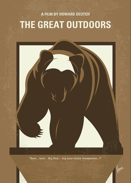 The Greeting Card featuring the digital art No824 My The Great Outdoors Minimal Movie Poster by Chungkong Art