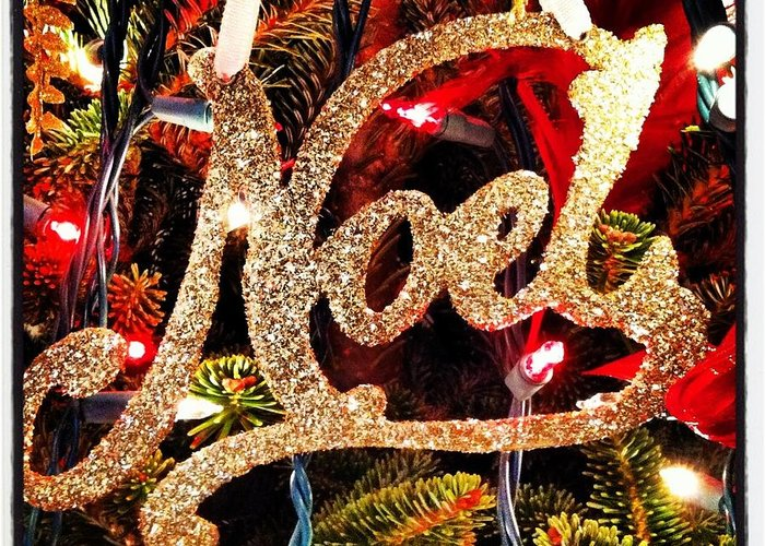 Noel Ornament Greeting Card featuring the photograph Noel Ornament by Artie Rawls