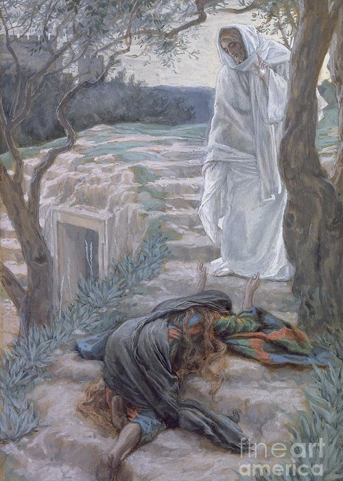 Noli Greeting Card featuring the painting Noli Me Tangere by Tissot