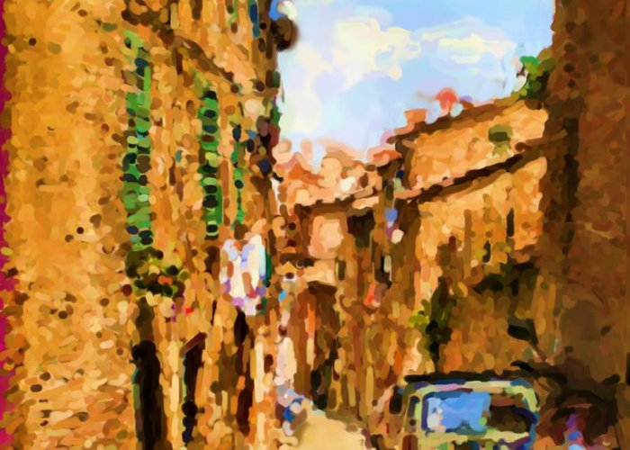Sienna Greeting Card featuring the photograph Noon in Sienna by Asbjorn Lonvig