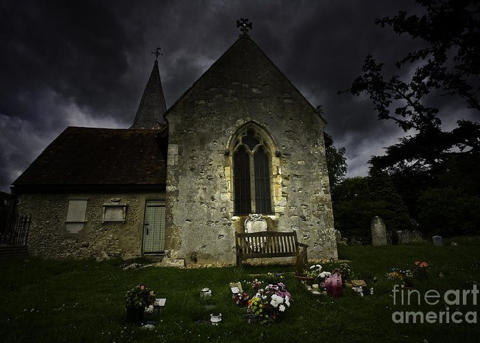 Church Greeting Card featuring the photograph Norman Church At Lissing Hampshire England by Sheila Smart Fine Art Photography